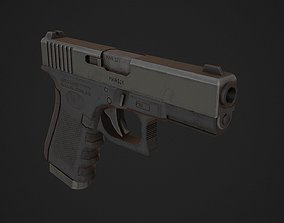 Glock 19 Low Poly 3D model