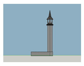 3D Old Time Bell Tower Armory