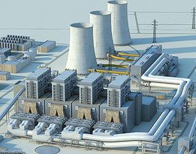 3D model Power plant building