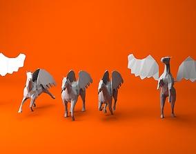 6 Lowpoly Pegasus 3D model realtime