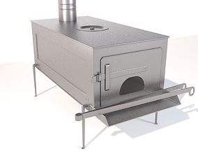 Wood Stove 3D model realtime