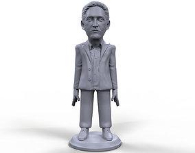Edward Snowden stylized high quality 3D printable
