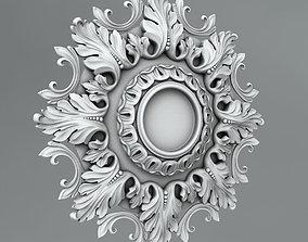 Carved Rosettes Medallions decoration 3D model
