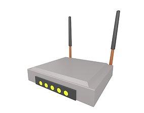 Cartoon Wifi Router v3 002 3D model