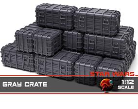 starwars 3D print model Star Wars Gray Crate 1-12 scale