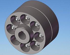 Elastic coupling 3D model