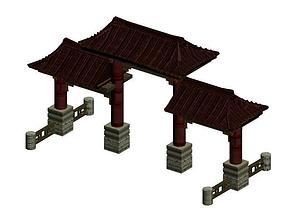 Chinese pailao gateway 3D model
