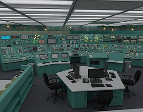 3D model Nuclear Power Plant Control Room