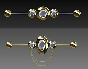 3D model Industrial piercings