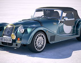 Morgan Plus 8 50th Anniversary 2018 with roof 3D model