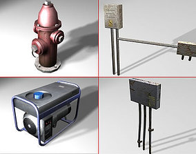 Electrical Devices and Pipes 3D model low-poly