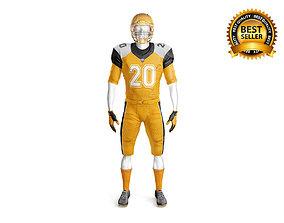 3D Footbal Uniform with mannequin