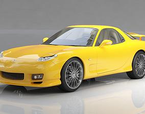 3D model roadster Mazda RX-7 Spirit Yellow