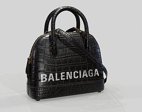 Balenciaga Ville Top Handle XXS Bag Black 3D model
