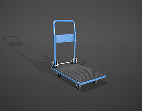 3D model Folding Platform Truck Trolley - Blue