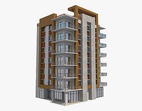 3D Apartment Building 5 apartment