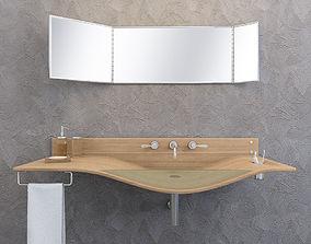 washbasin Agape Gabbiano 3D model animated