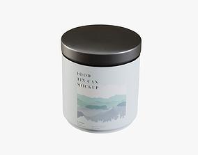 3D asset Coffee Tin Can