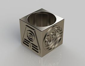 3D printable model Four Elements Ring