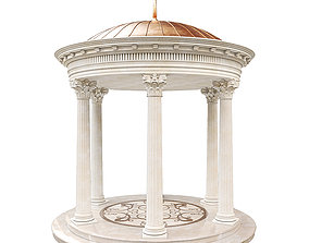 Classic Rotunda Gazebo 3D asset