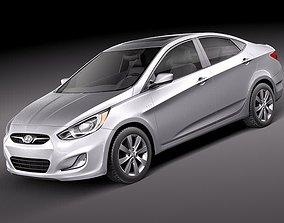 3D model Hyundai Accent sedan 2012