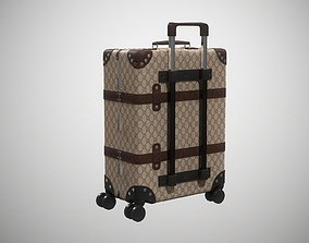 Gucci Globe-Trotter GG canvas luggage 3D model