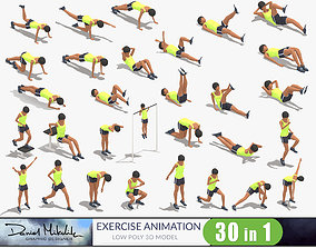 3D model 30 Woman Exercise Pack