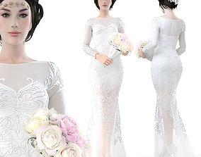 3D model wedding Bride