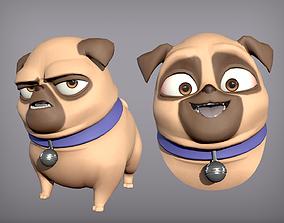 3D asset Cartoon character pug