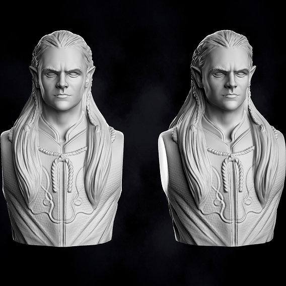 Legolas Fanart Bust