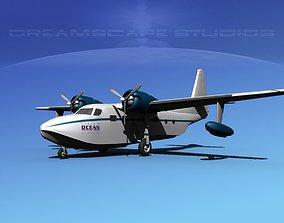 Grumman G-73 Mallard Ocean Intl 3D model