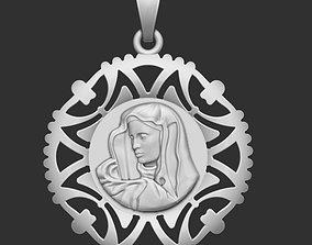 The Saint Virgin Mary Pendant 3D printable model