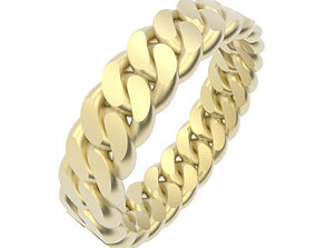 Chain Link Ring - UK Size N - 5mm Wide 3D print model