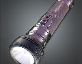 Flashlight 80s Retro 3D model