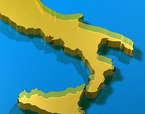 3D model Italy shape