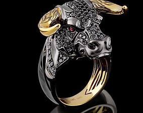 Bull Head ring 3dm stl model