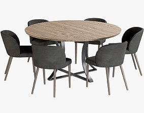 3D model Dining Table Gage Chair Camilie