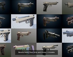 Beretta M9A3 Pack Unity and Unreal 3D