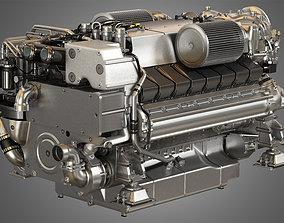 V16 2000 yacht Engine - 3d Model Engine