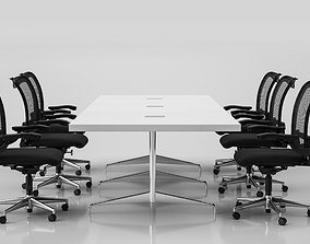 Conference Meeting Room Furniture 03 3D model
