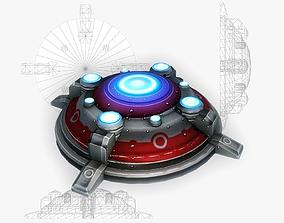 3D model Sci-fi mine 2 low poly