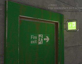 Emergency Fire Exit Door 3D asset