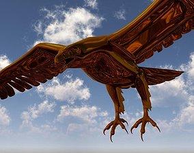 3D model rigged Golden Eagle