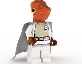 3D model LEGO Minfigure Admiral Ackbar