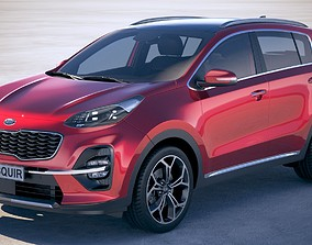 3D Kia Sportage with interior 2019