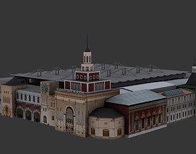 Kazansky Railway station Moscow 3D model