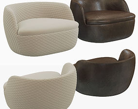 Moooi Bart armchair 3D model