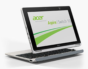 Acer Aspire Switch 10 convertible hybrid laptop 3D asset