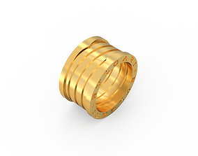 Ring Zero Without Stones Ring Size 3D printable model