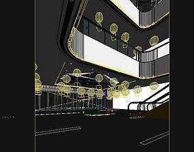 3D asset Mall atrium renderings